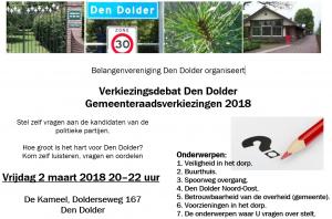 Verkiezingsdebat DenDolder 2018